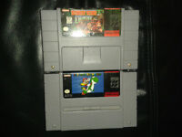 Jeux de super nintendo/ snes,Donkey kong country et mario world