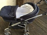 Mamas and Papas nautical pram and pushchair