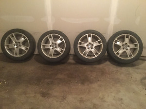 SUMMER TIRES WITH ALUMINUM VOLVO RIMS FOR SALE!!