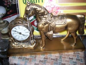 Great OLD looking Horse Clock