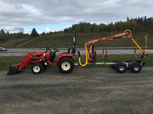 Tractor and log loader / trailer packages  $339.22 a month