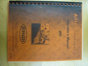 Allis Chalmers Operator's Manual WD Tractor