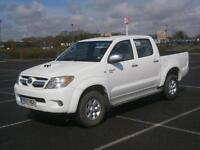 2007 57 TOYOTA HILUX HL3 D-4D 4X4 DOUBLE CAB PICK UP TRUCK WHITE AIR CON EXPORT
