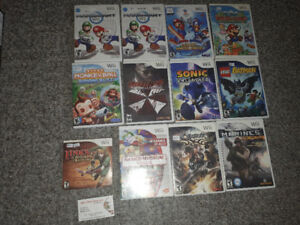 ** Wii Console Bundle + Games, Carrying Case **