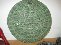 Mayan Calender Stone Art Carving from Mexico