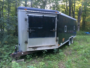 Enclosed 27 foot V nose Snowmobile/ Atv trailer for sale.