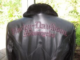 HARLEY DAVIDSON LADIES LEATHER JACKET, GENUINE LIMITED EDITION, AS NEW