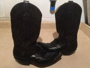 Men's Tom Houston Leather Cowboy Boots Size 7