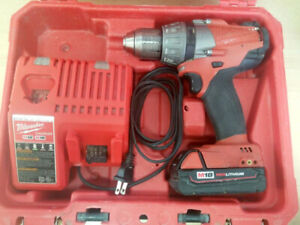 18V Milwaukee Cordless Drill, Battery and Case