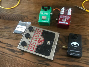Ibanez tubescreamer ts808, wampler pinnacle, EHX big muff fuzz
