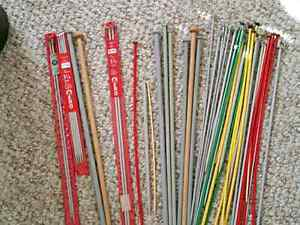 Knitting needles baskets & patterns