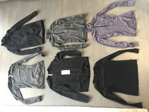 Lululemon size 6 - wrap 1/2 zip pullovers blouses tops scarf