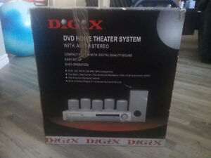DIGIX HOME THEATER SYSTEM with AM/FM STEREO