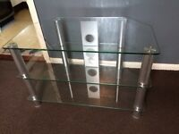 TV stand clear glass tempered