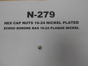 N-279 - HEX CAP NUTS 10-24 NICKEL PLATED West Island Greater Montréal image 1