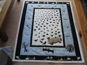 Bird,s of a feather quilt 60  x 46