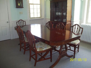 6 piece cherry table antique with padded cover