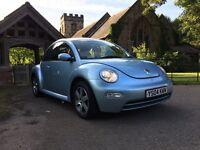 2004 VW BEETLE 1.6 16v BLUE HPI CLEAR 12 MONTH MOT 2 KEYS BARGAIN