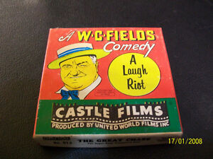 """Vintage WC Fields Comedy """"A Laugh Riot""""on Super8mm 1950s-1960s"""