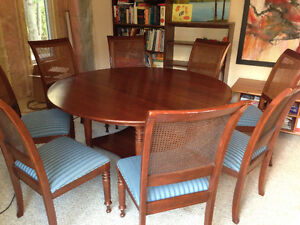 Solid Cherry Dining Set And Matching Side Board