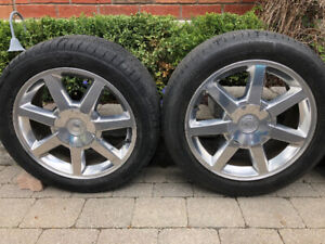 Alloy Rims and tires for a Cadillac CTS