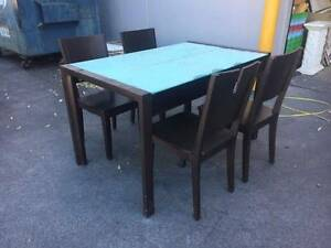 1400mm wooden dining table set with 4 chairs - FREE Dingley Village Kingston Area Preview