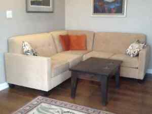 Almost New Sectional - Price reduced to $350 OBO