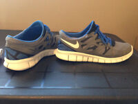 Nike Free Run Sole Men's Size 10 Grey/Blue/White - MUST SELL!!