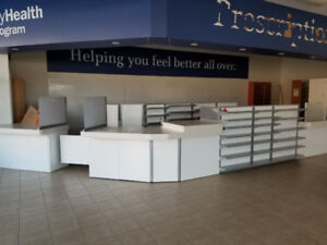 Retail Counterfront and Counter with Storage and Display