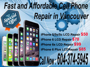 iPhone 5,5c,5s LCD Repair in only $50