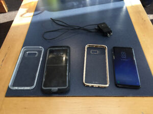 Galaxy S8+ 64gb MINT Condition (Plus Cases)