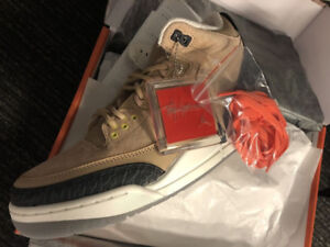 Air Jordan 3 Retro JTH NRG Bio Beige Man of the Woods sz 9.5-10