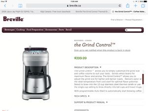 Breville The Grind Control Thermal Drip Coffee Maker