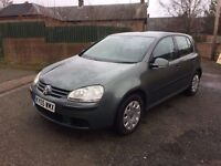 2005 VW GOLF 1.4 S, DECEMBER MOT, LIKE ASTRA MEGANE 307 LEON FOCUS