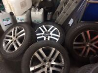 VW wheels with tyres