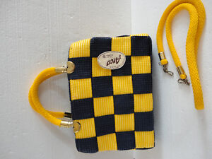 Brand new with tags women's yellow/blue colour block purse London Ontario image 6