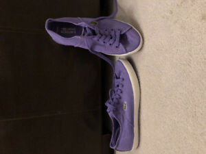 Ladies Lacoste canvas sneakers
