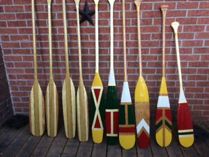 Hand made canoe paddles