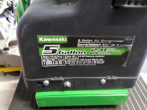 Compresseur 2 hp 5 gallons 2 sorties kawasaki  oil less
