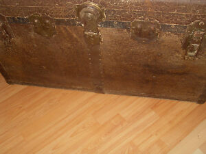 Awesome very old Trunk and 1950's desk