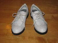 Souliers de golf CAMPBELL cuir blanc - gr 6 pour femme