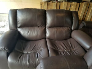 Brown Leather Sofa Set for Sale
