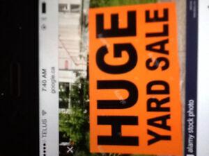 Huge yard sale 297 Wellington st sat sept 23 8-2