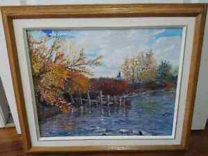 "Original Oil Painting ""Autumn in Jimmy's Bay"""