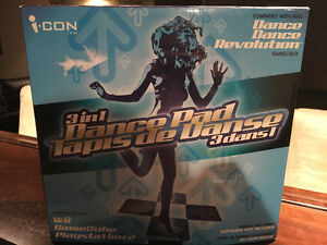 Dance Dance Revolution Dance pad- Wii, Game Cube, PS2 compatible