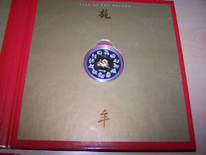2000 Year of the DRAGON Chinese Canada Silver $15 Coin & Stamp