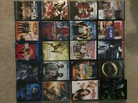 45 DVD & Blu ray movies & big bang theory seasons 1-5 on DVD