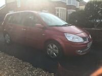58 plate Renault grand scenic 1.5 diesel 7 seater