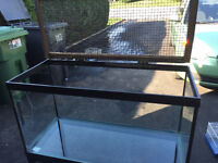 Terrarium pour reptile(aquarium modifiée), 30x12x16(pouces)