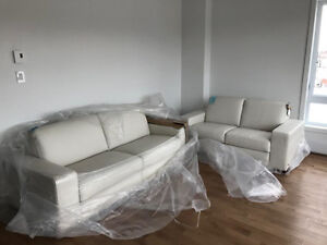 NATUZZI LEATHER SOFA SET ! BRAND NEW! MADE IN ITALY !